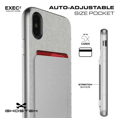 the latest d71b6 ec744 iPhone X Case Ghostek Exec 2 Series Case Silver